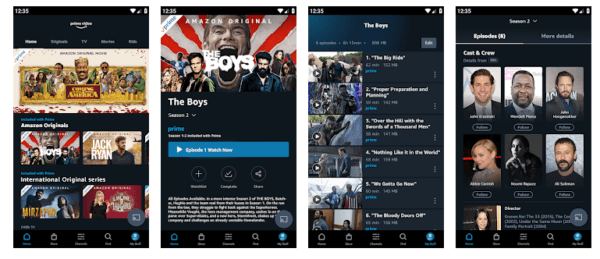 Screenshots & Video Of Amazon Prime Video App For PC